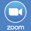 "zoom logo of camera icon and text that reads ""zoom"""