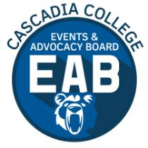 Cascadia EAB Logo in blue and white with Kody bear image